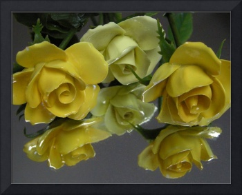 Yellow Porcelain Roses