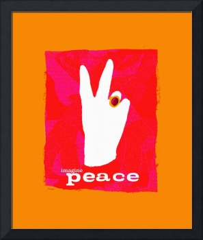 PROMOTE PEACE - PINK PEACE SIGN