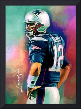 Tom Brady #12 Wall Art