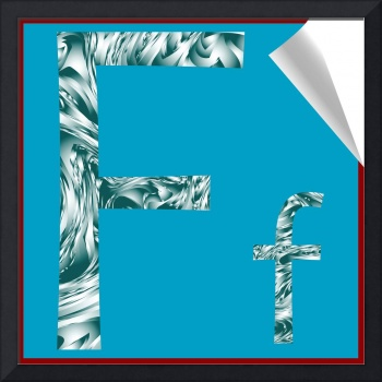 alphabet letter F sticker