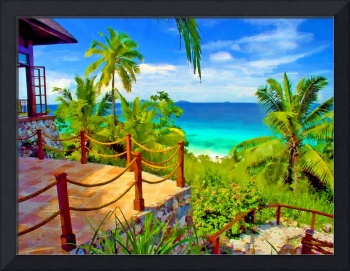 View from Fregate Island Seychelles