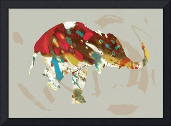 Eehpant Wild Animal Stylised Pop Art  Poster