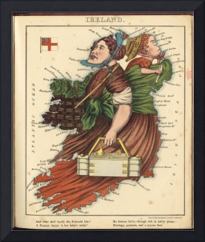 Vintage Map of Lady Ireland (1868)