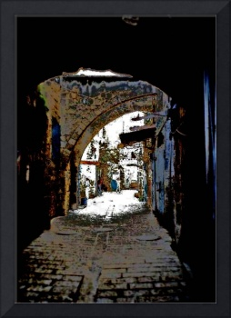 alley in old akko