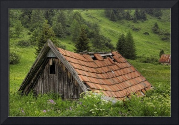 Old alpine hut