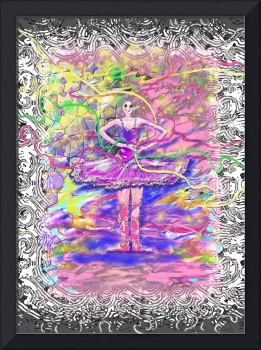 Ballerina With Party Ribbons