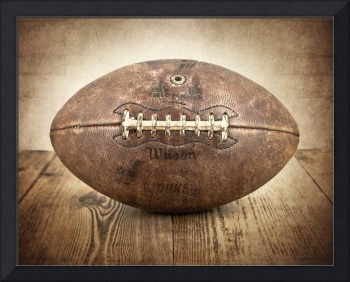 Vintage 1950s Football on Wood
