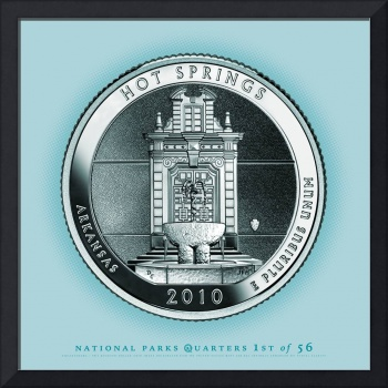 Hot Springs, Arkansas - Portrait Coin 57