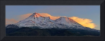 Mount Shasta, Dusk, California, USA