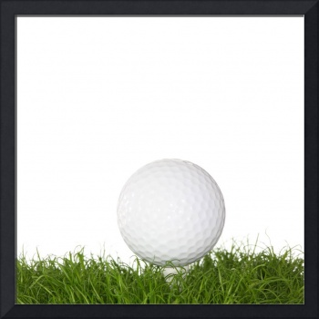 A golf ball in the grass.