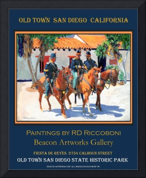 Soldiers in Old San Diego Poster by Riccoboni
