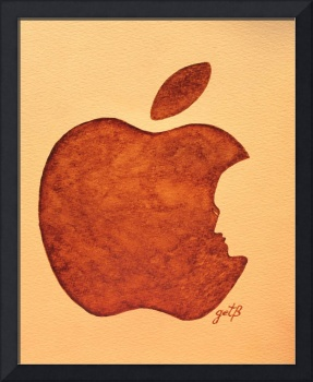Think Different Steve Jobs coffee painting