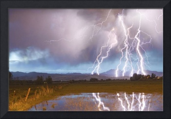 Lightning Striking Longs Peak Foothills 4