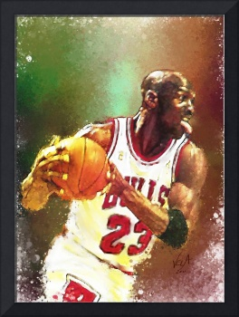 Michael Jordan Chicago Bulls NBA Art