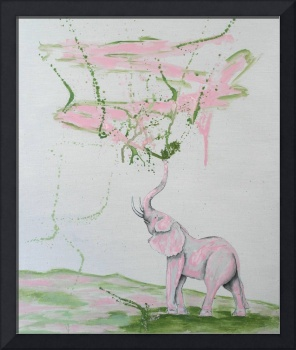 Elephant Paints Abstract
