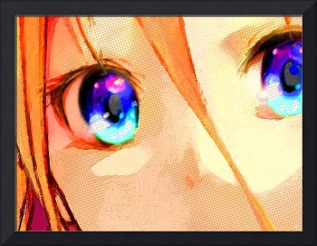 Anime Girl Eyes Gold