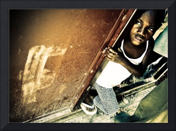Child at Gate - Port-au-Prince, Haiti