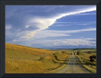 Chinook Arch Over Rangeland, Near Cochrane, Albert