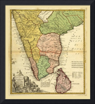 Southern India Map (1733)