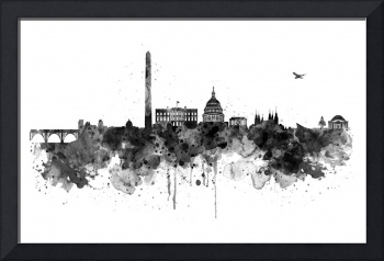 Washington DC Skyline - Black and White