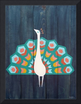 Reclaimed Wood Peacock Painting
