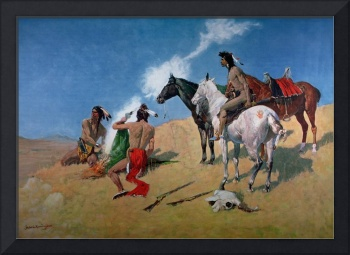 Smoke Signals by Frederic Remington