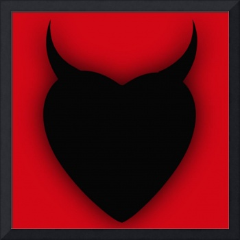 Heart Series Love Black Devil Horns