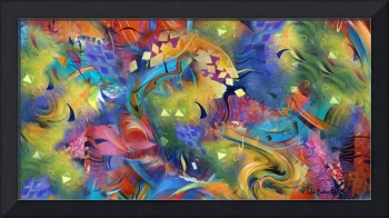 Fascination Art Print Colorful Wall Decor by Julee