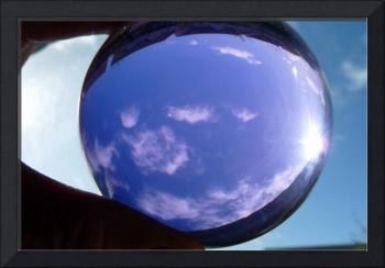 Sky through Glass Ball