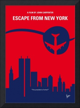 No219 My Escape from New York minimal movie poster