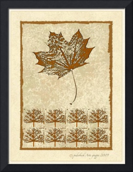 Bare Trees and Maple Leaf