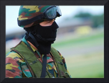 A soldier of the Special Forces Group of the Belgi
