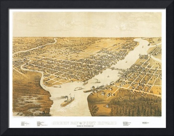 Green Bay Wisconsin Panoramic Map