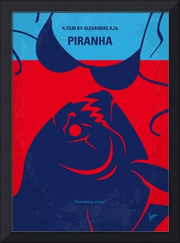 No433 My Piranha minimal movie poster