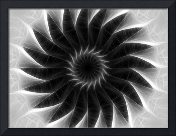 Gray Kaleidoscope Art 5