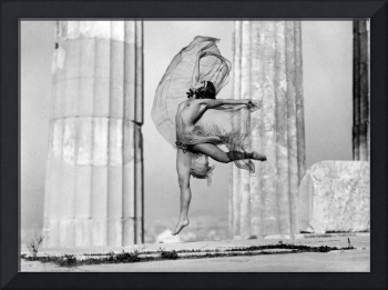 The Hungarian dancer Nikolska at the Parthenon