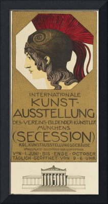 Poster advertising the International Art Exhibitio