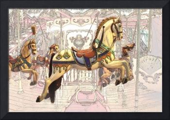 carrousel with horses