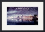 Winter Village Poster by Jacque Alameddine