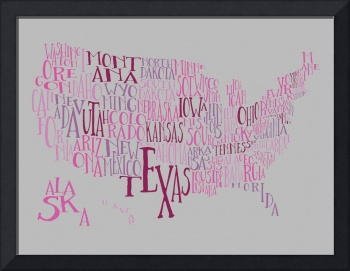 Grape Gum US Typography Map