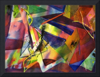 Abstract Color Shapes by Sonya P.