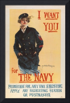 Howard Chandler Christy~I want you for the Navy Ho