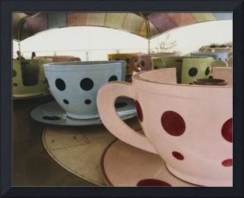 Tea cup ride in an amusement park