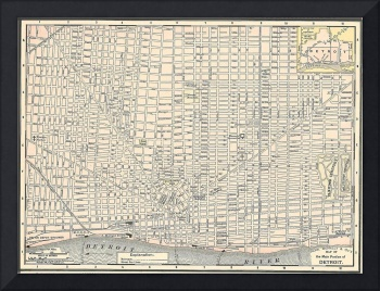 Vintage Map of Detroit (1895)
