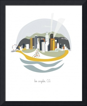 Los Angeles Modern Cityscape Illustration
