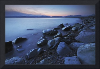 Rossbeigh Beach At Dusk County Kerry, Province Of