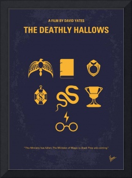 No101-7 My HP - DEATHLY HALLOWS minimal movie post