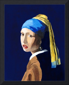 The Girl with a Pearl Earring after Vermeer