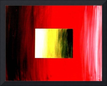 ABSTRACT 3D RED YELLOW SQUARE