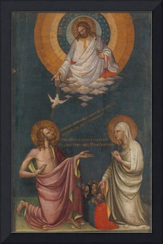 Lorenzo Monaco~The Intercession of Christ and the